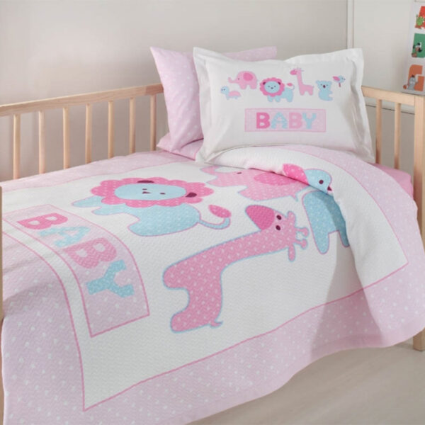 SET-DORMITOR-BUMBAC-ANIMALS-PINK